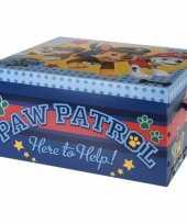 Speelgoed opbergdoos paw patrol blauw 49 cm