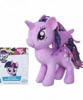 Speelgoed paarse my little pony knuffel 13 cm