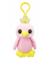 Speelgoed papegaai sleutelhanger 9 cm