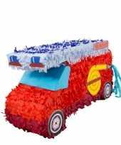 Speelgoed pinata brandweerwagen rood 52 cm