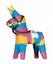Speelgoed pinata ezel gekleurd 51 cm
