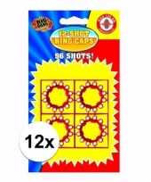 Speelgoed pistool plaffertjes 12 shoten 12 kaartjes