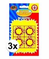 Speelgoed pistool plaffertjes 12 shoten 3 kaartjes