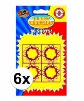 Speelgoed pistool plaffertjes 12 shoten 6 kaartjes