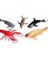 Speelgoed plastic oceaan diertjes 5 stuks