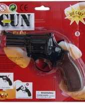 Speelgoed politie pistool zwart