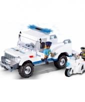 Speelgoed politieauto bouwstenen set