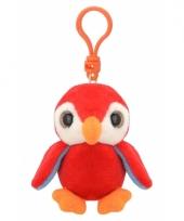 Speelgoed rode pinguin sleutelhanger 9 cm