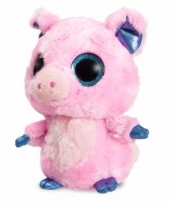 Speelgoed roze varken knuffel 20 cm
