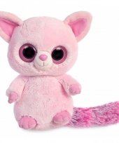 Speelgoed roze vos knuffel 28 cm