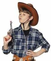 Speelgoed sheriff revolvers pistolen zilver 20 cm