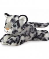 Speelgoed sneeuwluipaard knuffel 20 cm