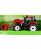 Speelgoed tractor rood
