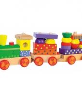 Speelgoed trein van hout met geluid