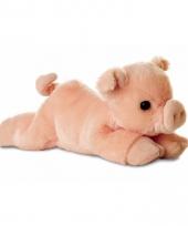 Speelgoed varken big knuffel 20 cm