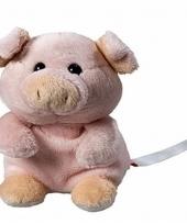 Speelgoed varken knuffel 11 cm