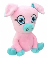 Speelgoed varken knuffel roze 26 cm