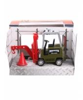 Speelgoed vorklift groen 17 cm werkvoertuig 10077616