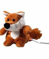 Speelgoed vossen knuffel 11 cm
