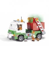 Speelgoed vuilnisauto bouwstenen set 10076013
