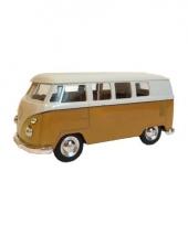 Speelgoed vw busje geel autootje 15 cm