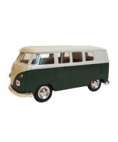 Speelgoed vw busje groen autootje 15 cm