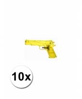 Speelgoed waterpistolen doorzichtig 10 st