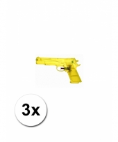 Speelgoed waterpistolen doorzichtig 3 st