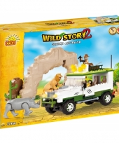 Speelgoed wild story jeep bouwstenen set