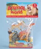 Speelgoed wilde dieren 6 stuks