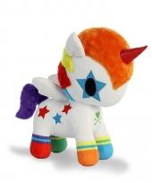 Speelgoed witte eenhoorn knuffel 25 cm