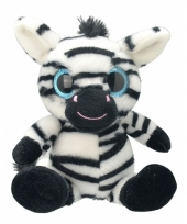 Speelgoed zebra knuffel 20 cm