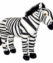 Speelgoed zebra knuffel 30 cm