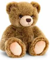 Speelgoed zittende knuffel teddybeer donkerbruin 45 cm