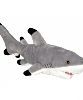 Speelgoed zwartpunt haai knuffel 31 cm