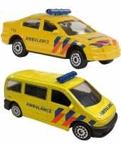 Speelgoedauto ambulance set 112