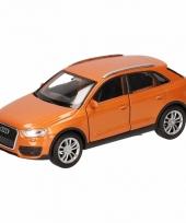 Speelgoedauto audi q3 oranje 12 cm