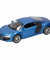 Speelgoedauto audi r8 blauw 11 5 cm