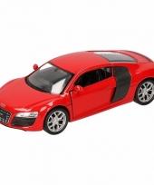 Speelgoedauto audi r8 rood 11 5 cm