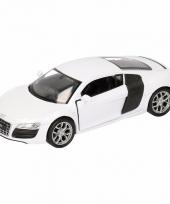 Speelgoedauto audi r8 wit 11 5 cm
