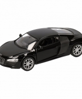 Speelgoedauto audi r8 zwart 11 5 cm