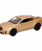 Speelgoedauto bentley continental supersports goud 12 cm