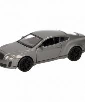 Speelgoedauto bentley continental supersports grijs 12 cm