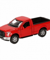 Speelgoedauto ford f 150 pick up rood 12 cm