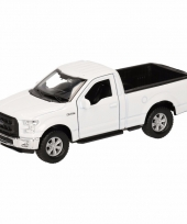 Speelgoedauto ford f 150 pick up wit 12 cm
