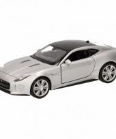 Speelgoedauto jaguar f type coupe grijs 12 cm