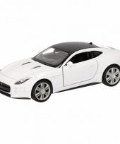 Speelgoedauto jaguar f type coupe wit 12 cm