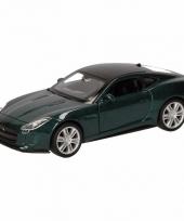 Speelgoedauto jaguar f type supercharged donkergroen 12 cm