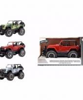 Speelgoedauto jeep wrangler met licht en geluidseffecten 27 5 cm 10093410