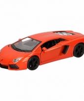 Speelgoedauto lamborghini aventador lp700 4 oranje 12 cm